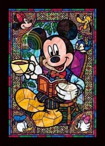 mickey mouse stone in glass